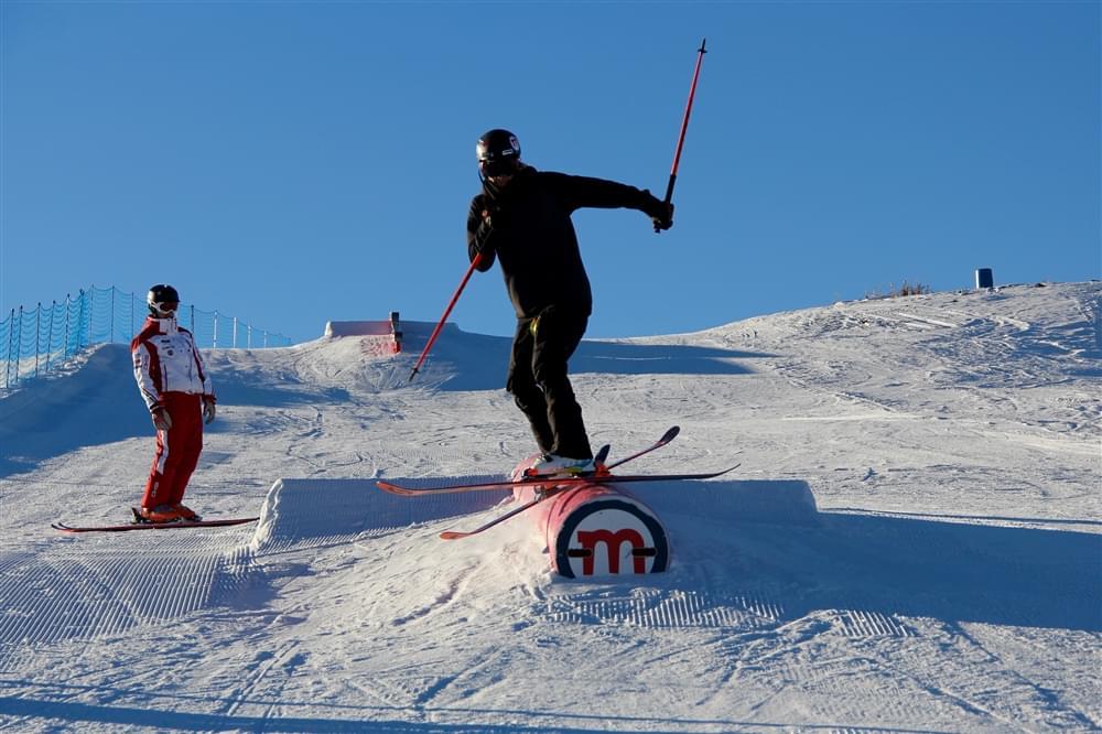 Ian training at Mottolino