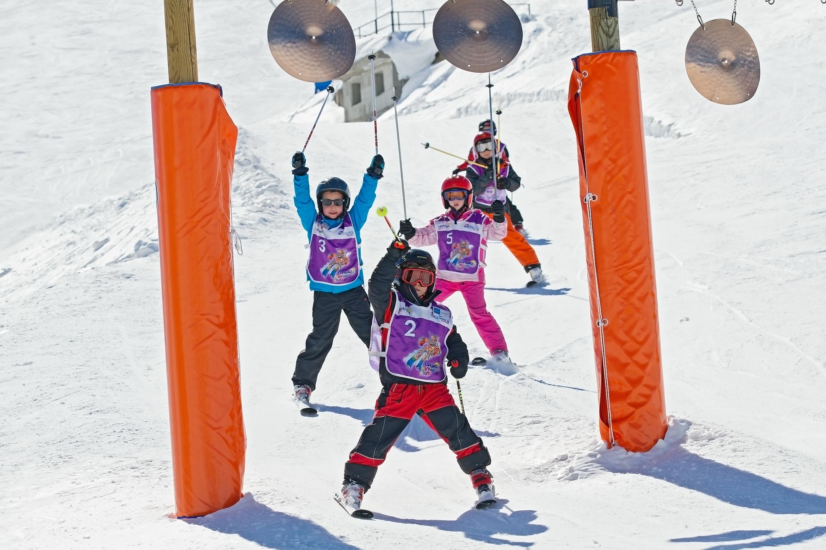 parco divertimento sugli sci allo Snowpark Mottolino