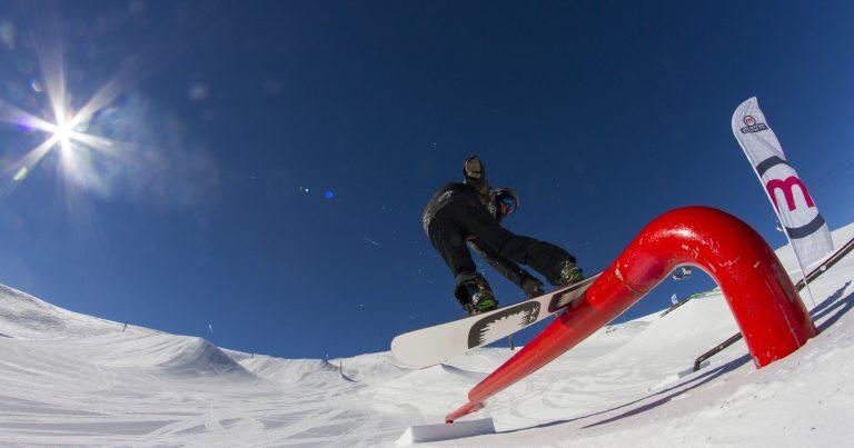 Il nuovo Gopro allo snowpark Mottolino