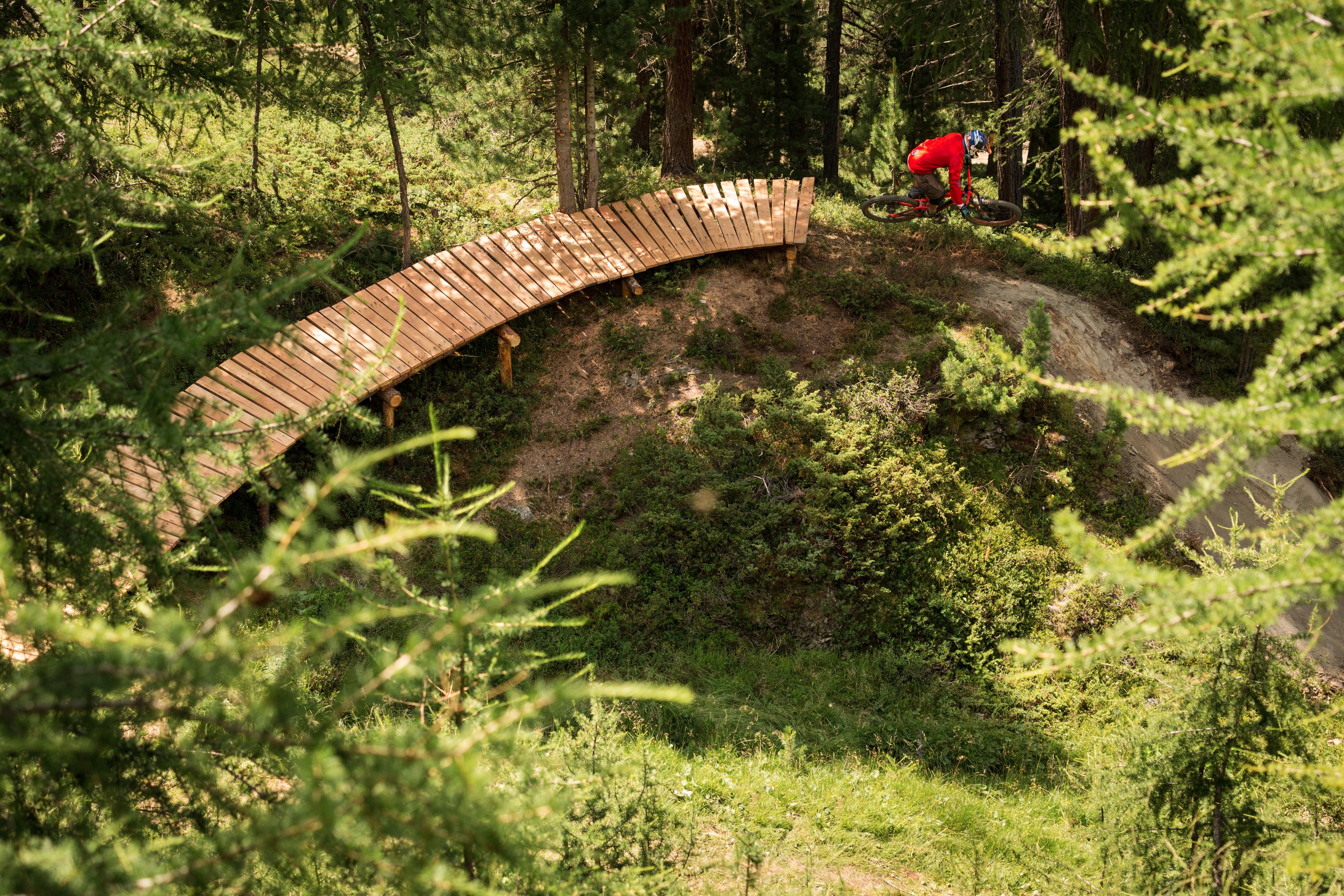 Parabolica del Bikepark Mottolino