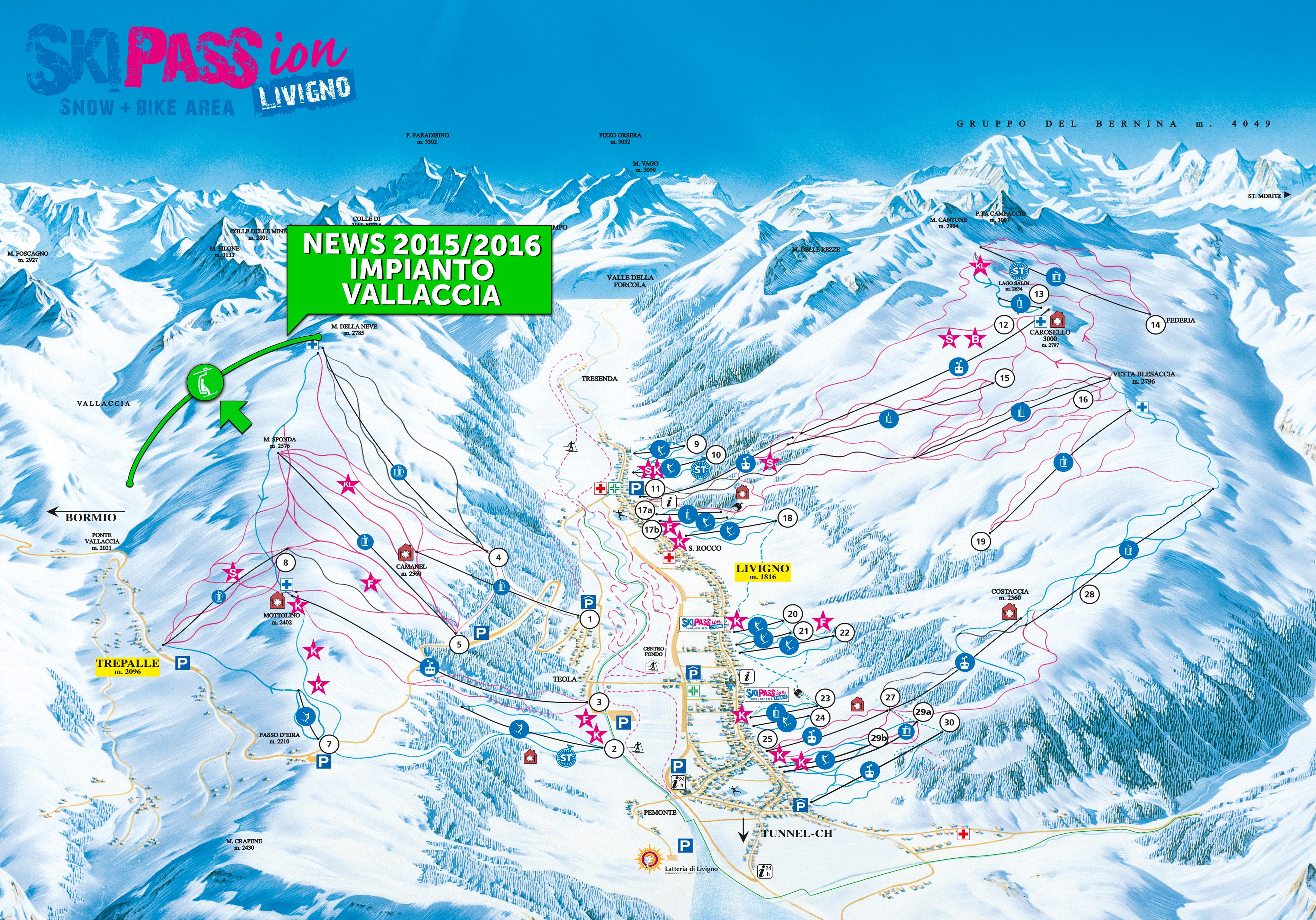 Mappa Skipassion di Livigno