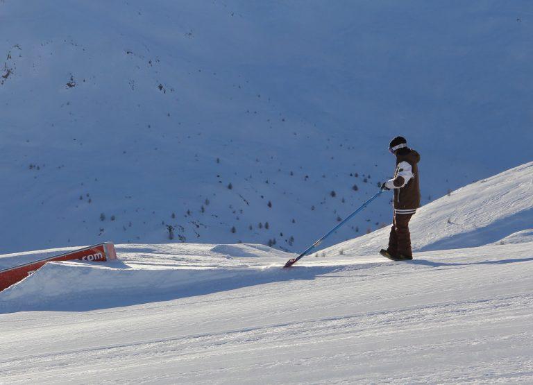 Primi kicker e strutture al Snowpark Mottolino