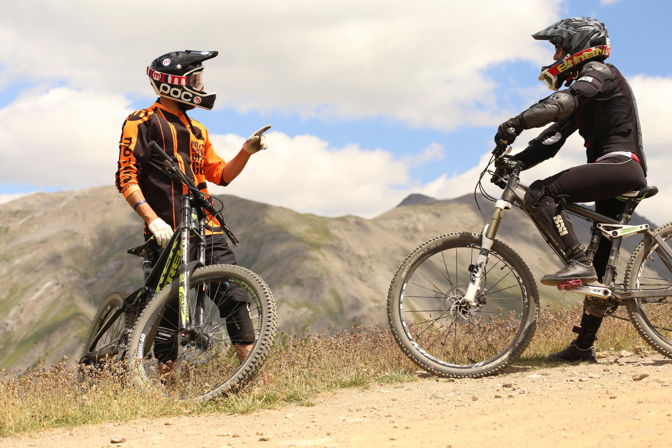 Bikers briefing al Bikepark