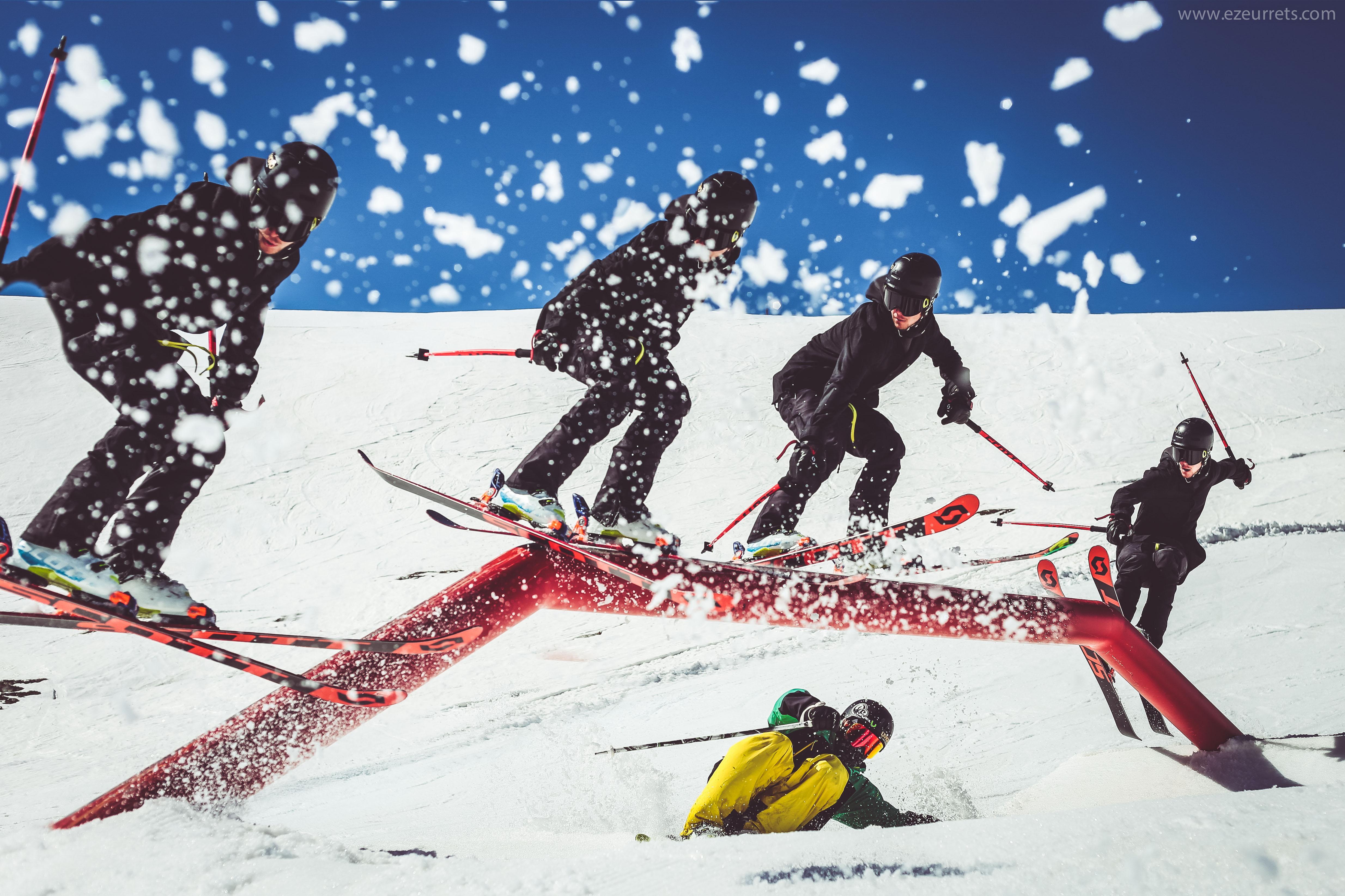 Evoluzioni in slow motion sul Snowpark Mottolinol