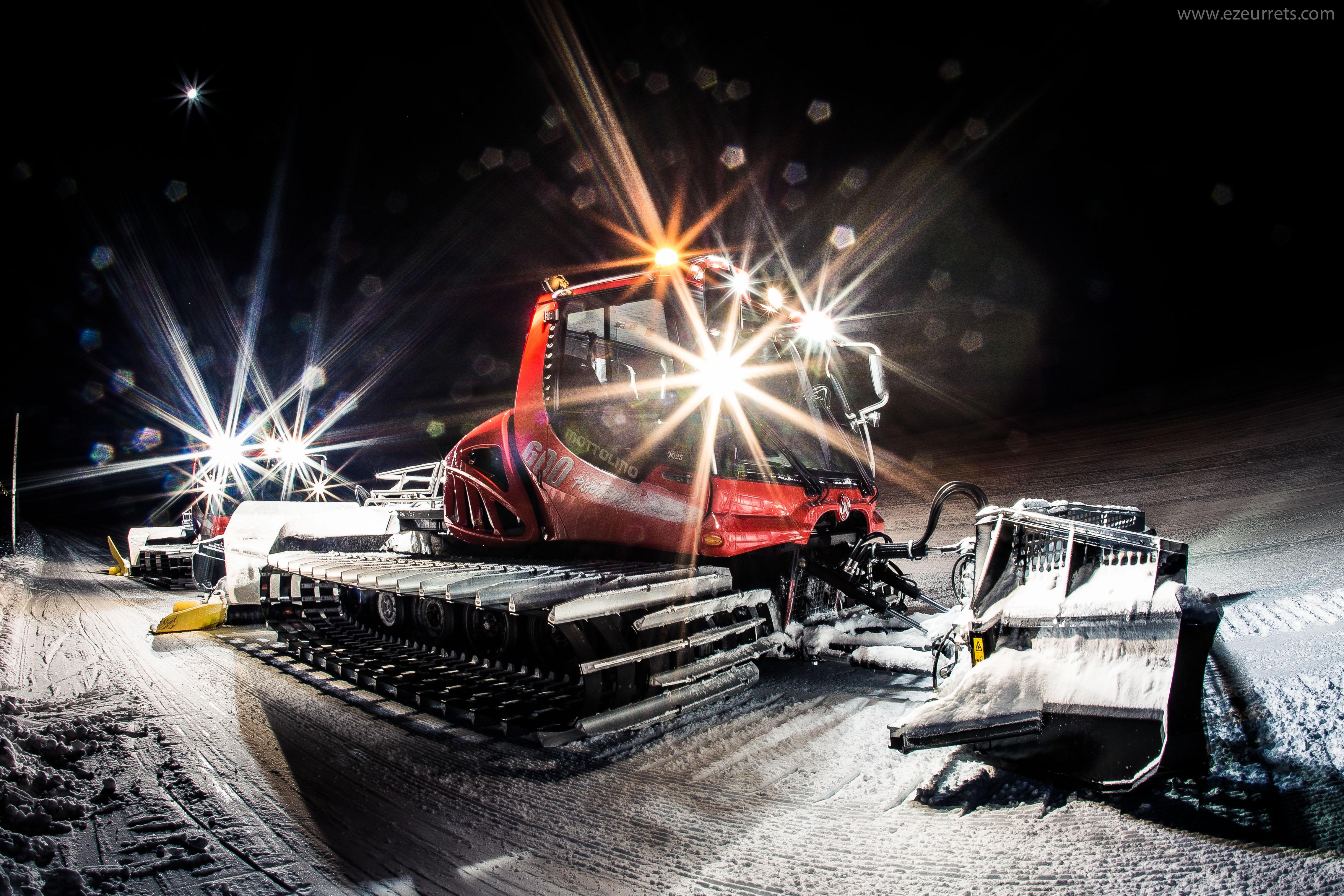 Gatti della neve in azione al Mottolino per la stagione invernale