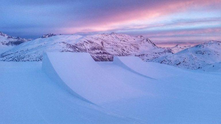 tramonto sullo Snowpark