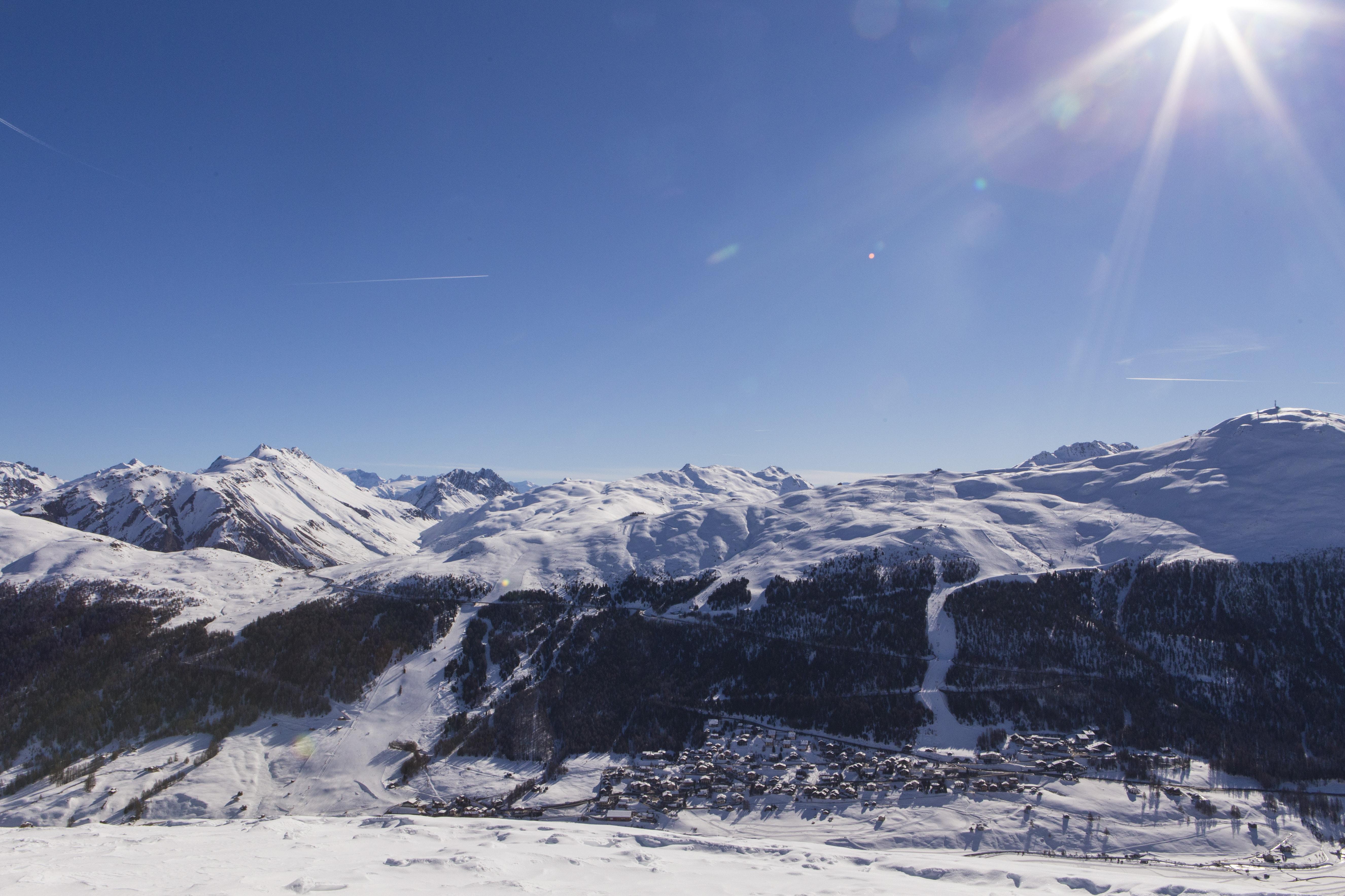 Vista mozzafiato delle Alpi di Livigno