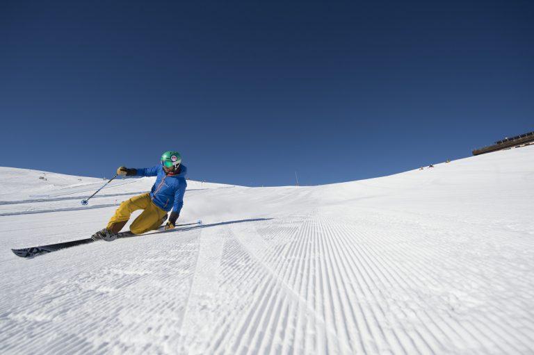 Sci primaverile a Livigno su pista Mottolino Skiarea