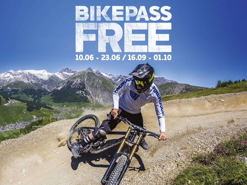 Bikepass free per riders al Mottolino