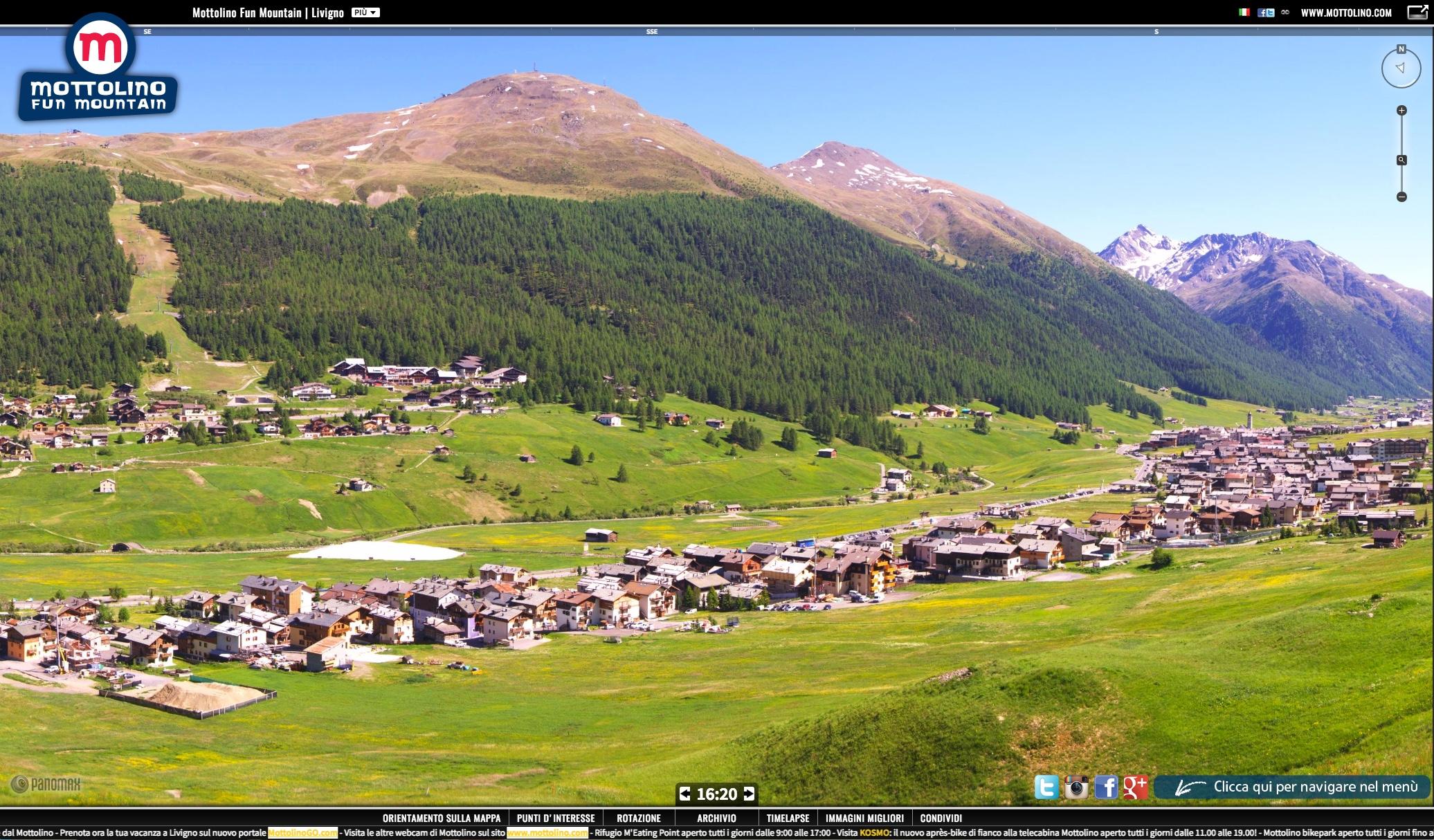 Panoramica della Webcam su Livigno
