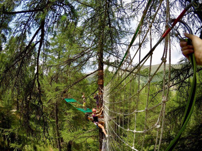 Larix park, evoluzioni su funi a Livigno