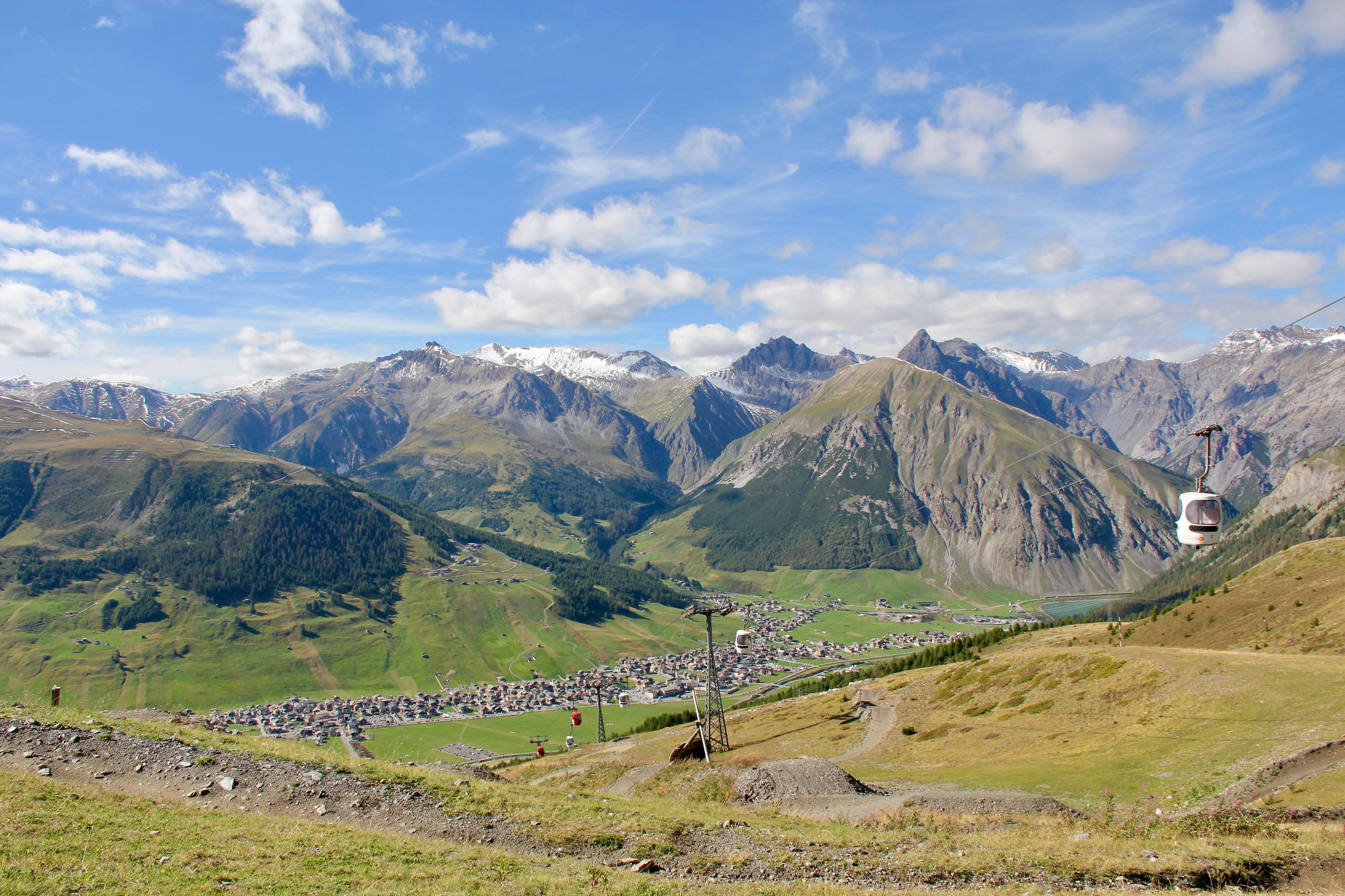 Panoramica della vallata di Livigno