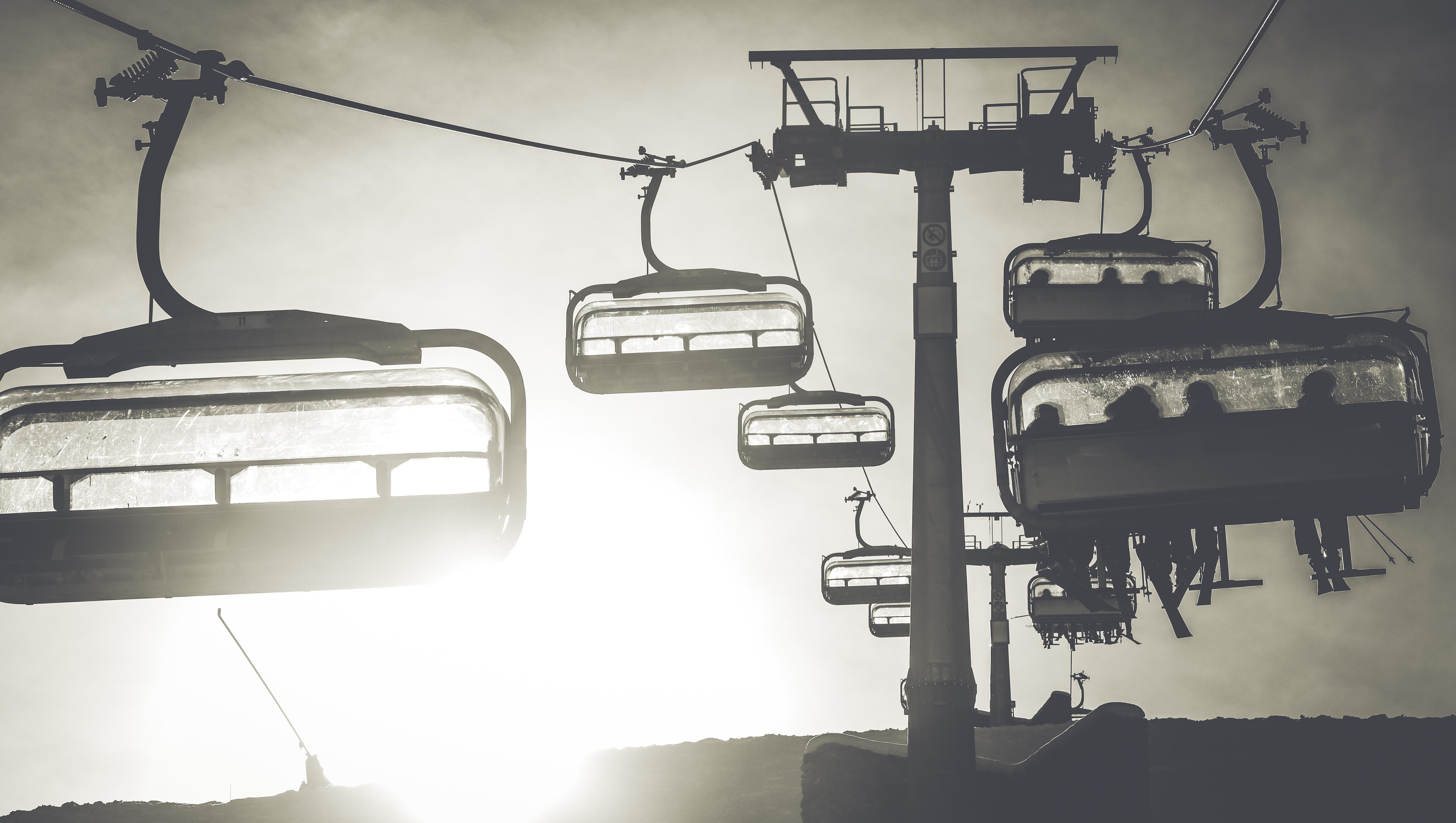 seggiovia nella stagione invernale a Livigno