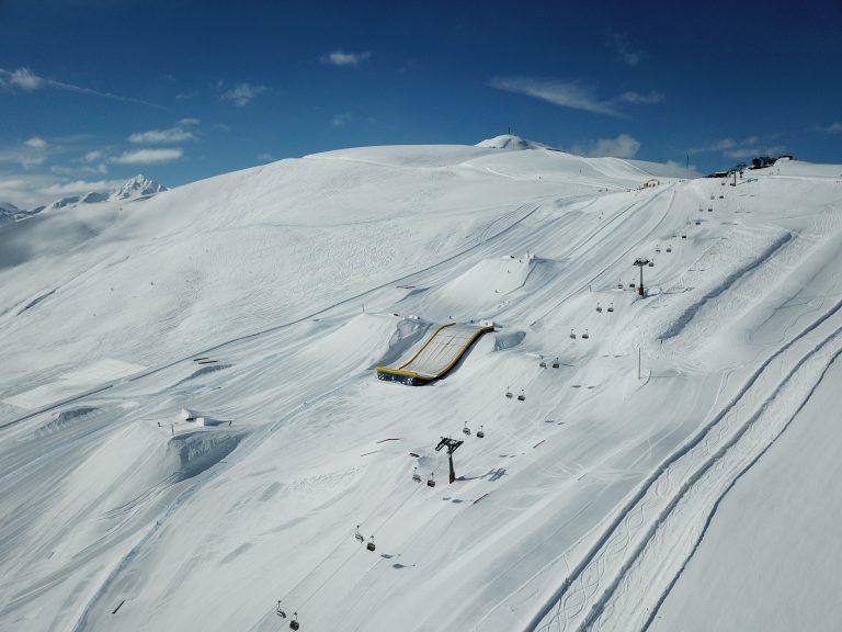Snowpark Mottolino panoramica dall'Alto