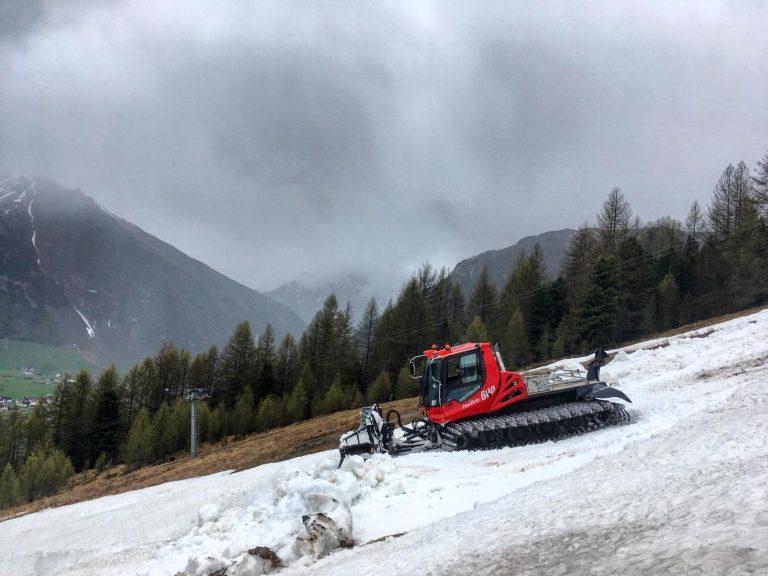 smaltimento neve per il bikepark