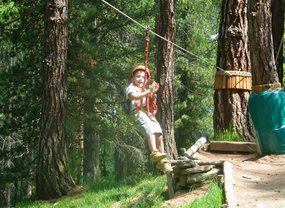 Tyrolienne parco avventura Livigno