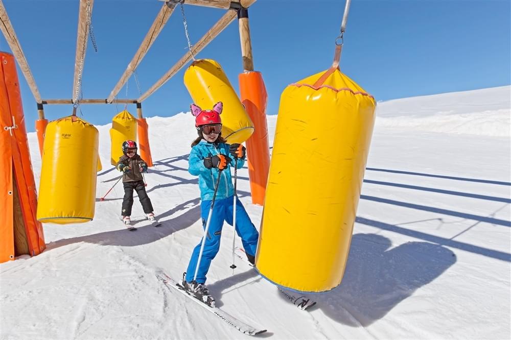 Ski slopes children Livigno