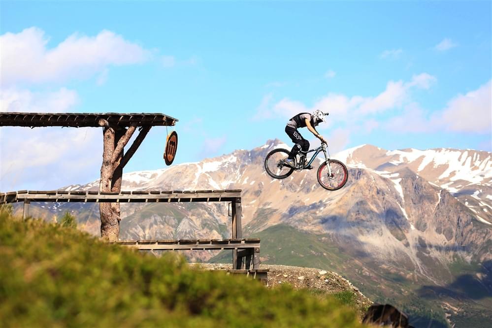 Mottolino slopestyle course