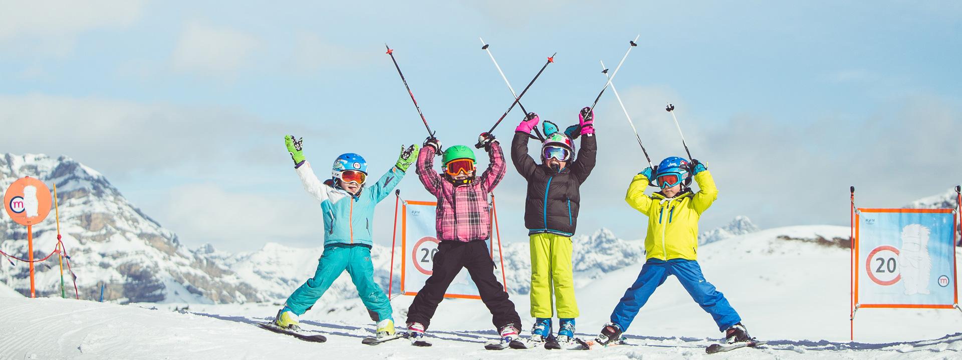 Tanto divertimento per i bambini nella ski area Mottolino a Livigno