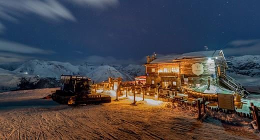 Cena in quota al Camanel di Planon sulla ski area Mottolino a Livigno ogni giovedì sera