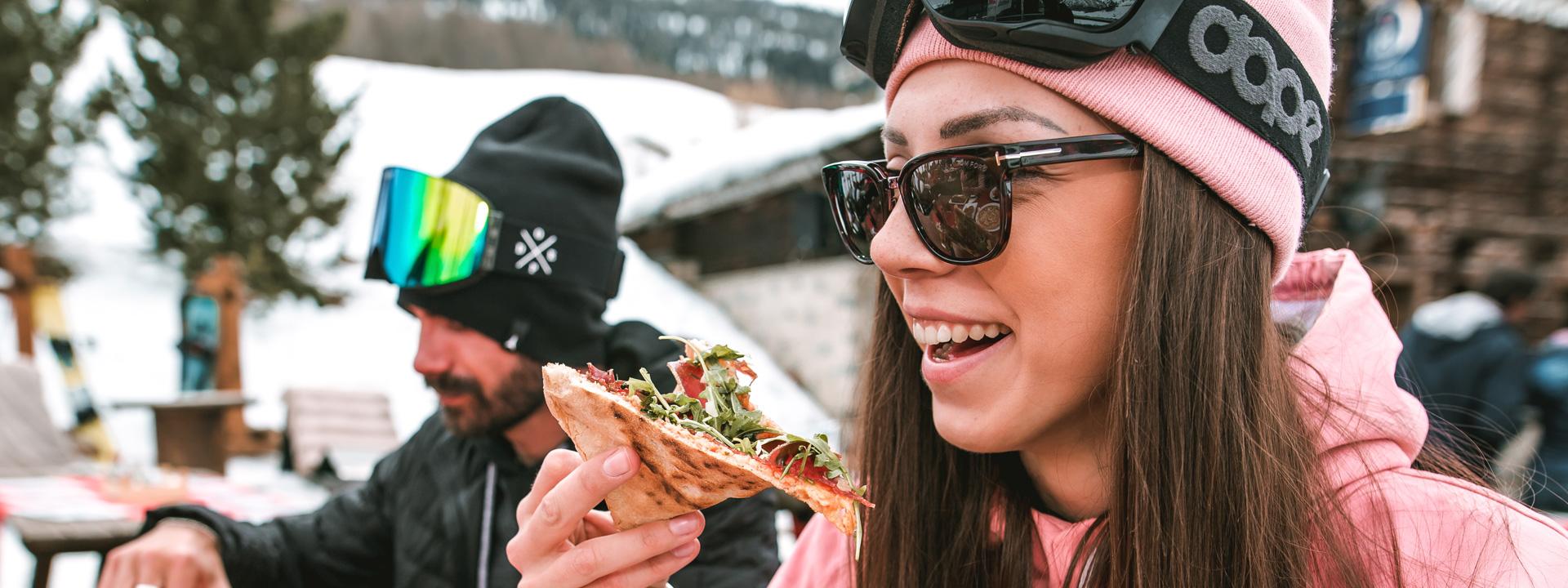 Piatti per tutti i gusti al Kosmo a valle della ski area Mottolino a Livigno