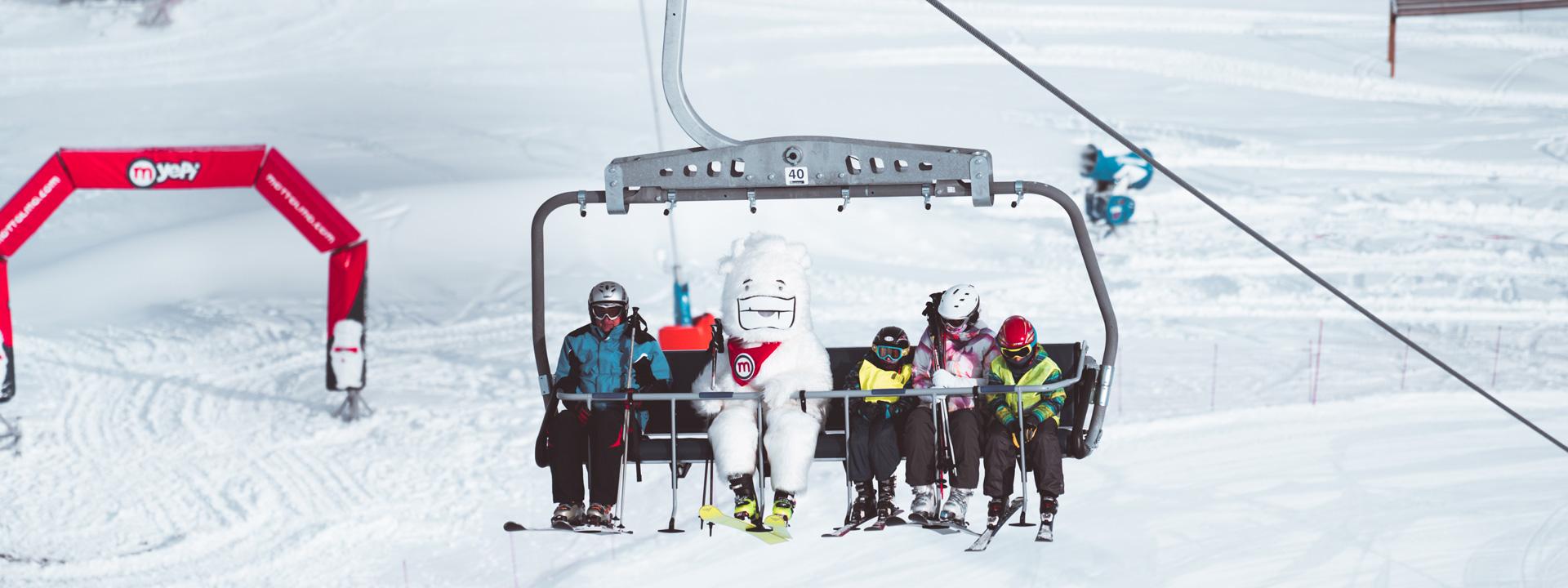 Seggiovia Yepi sulla ski area Mottolino a Livigno