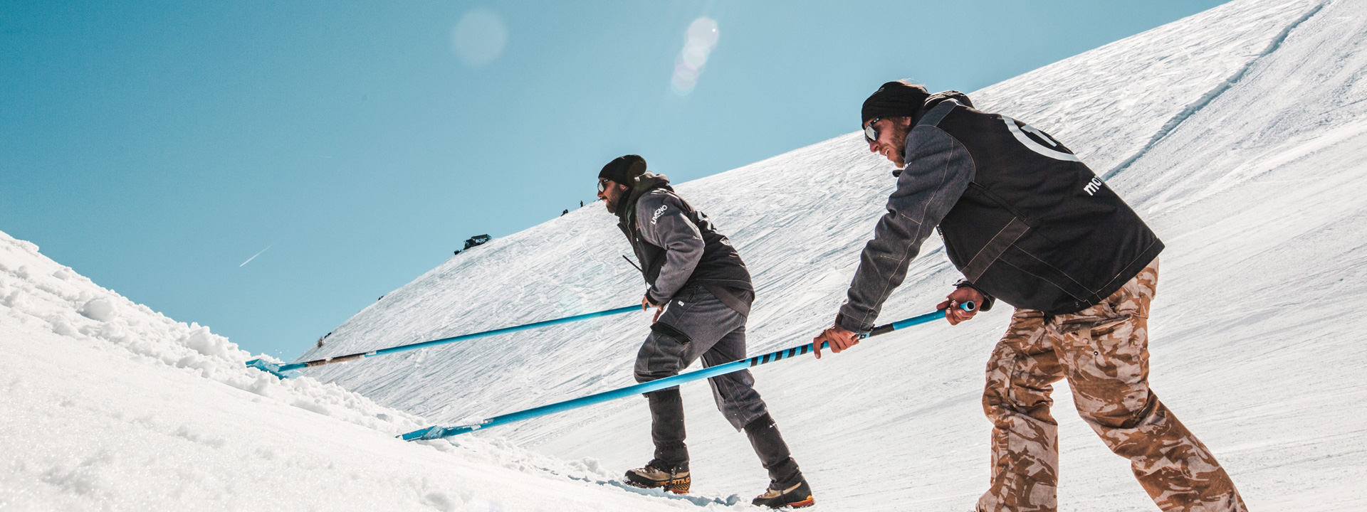 Shaper nello snowpark Mottolino a Livigno