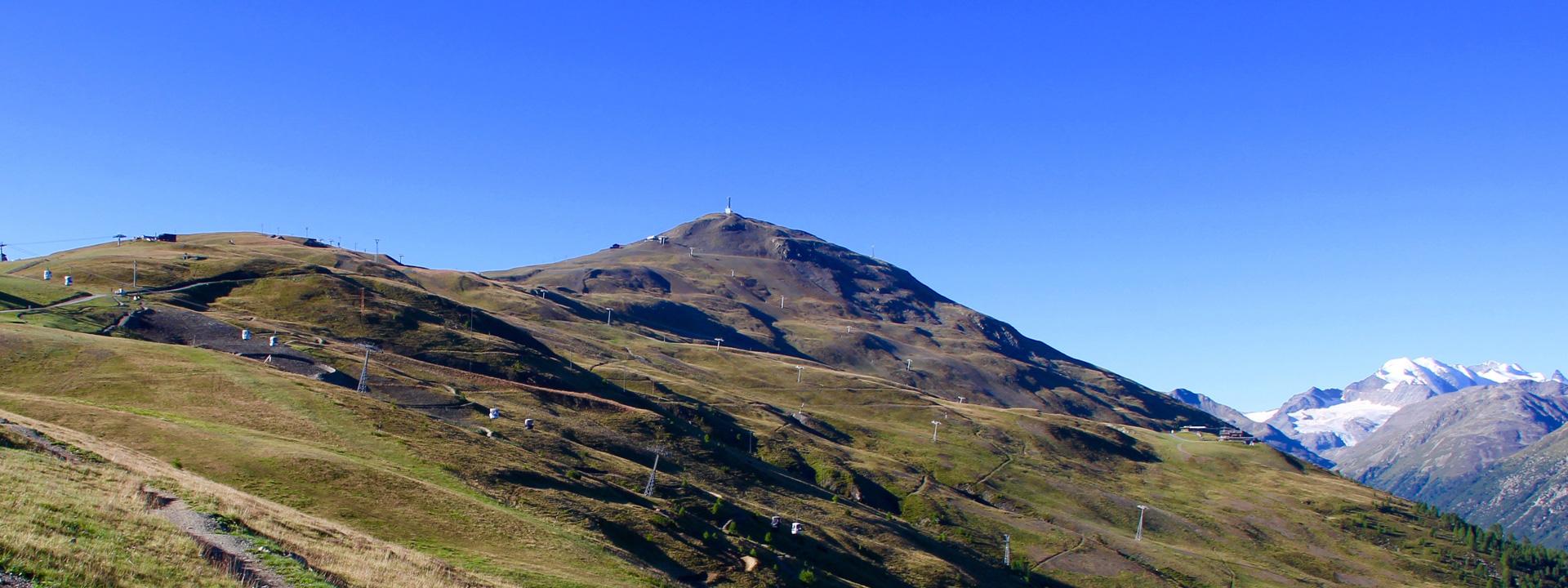 Vista sul Monte della Neve versante Mottolino a Livigno