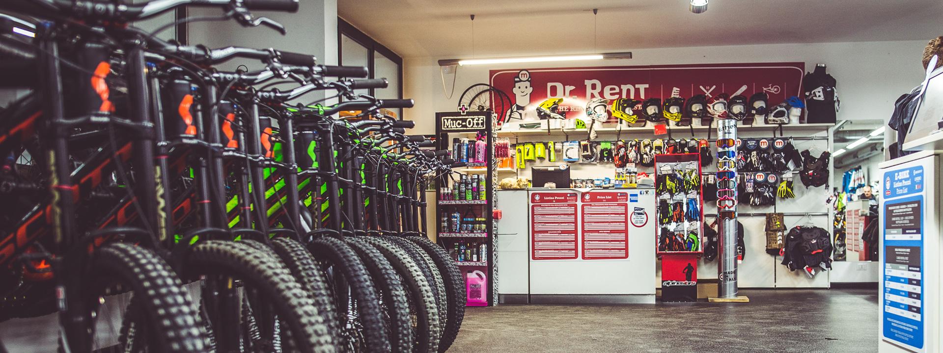 Noleggio bici ed attrezzature di Dr.Rent a Livigno