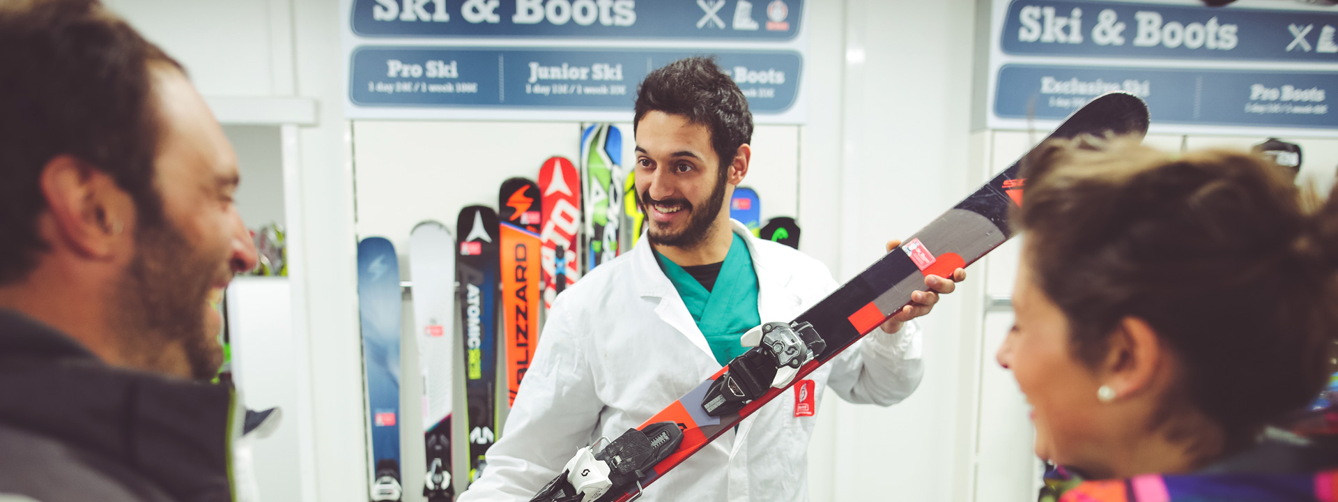 Il miglior noleggio sci e snowboard Dr. Rent Mottolino a Livigno