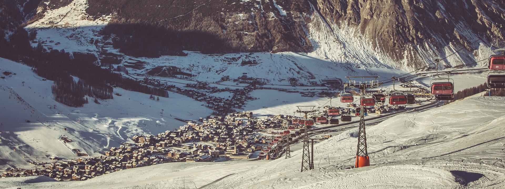 Parcheggi gratuiti per accedere alla ski area Mottolino a Livigno