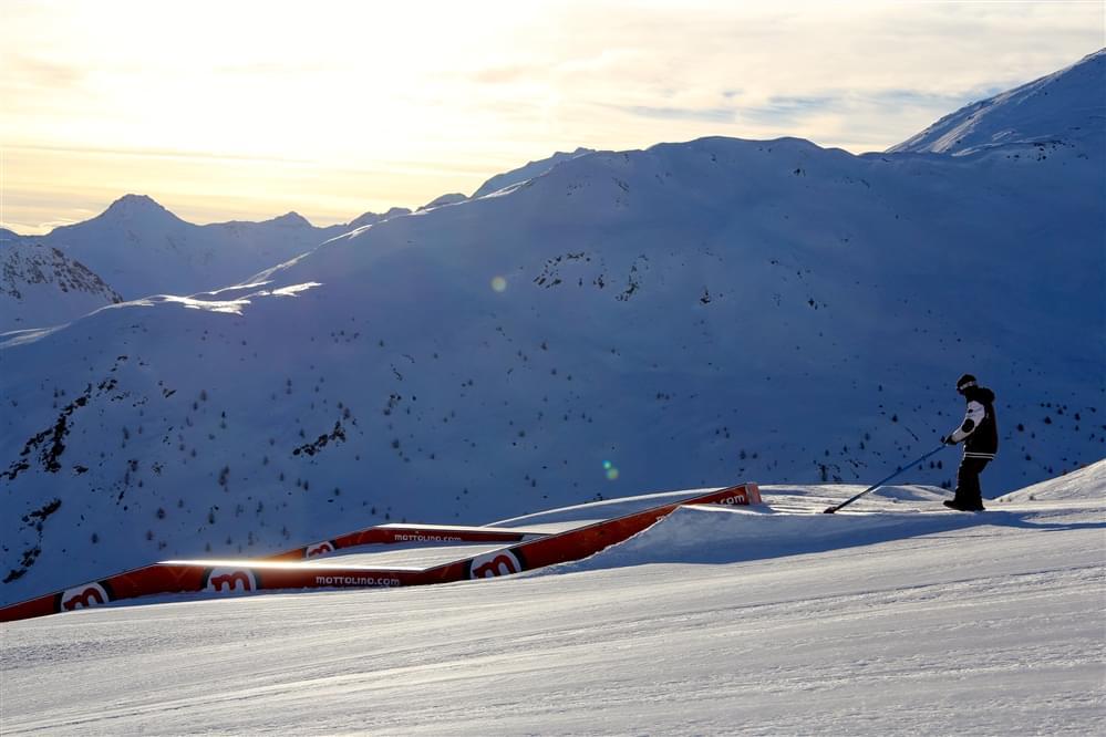 Shaper snowpark Mottolino Livigno