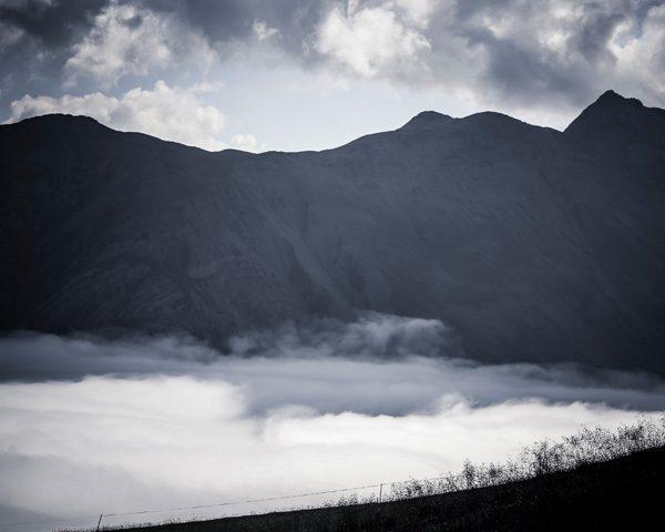 Paesaggio suggestivo delle Alpi di Livigno