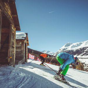 Partenza Self Timing nella ski area Mottolino a Livigno