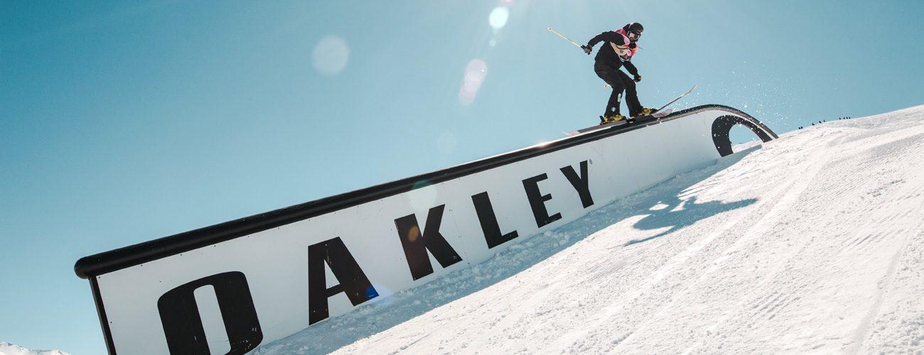 Rail Oakley allo Snowpark Mottolino di Livigno
